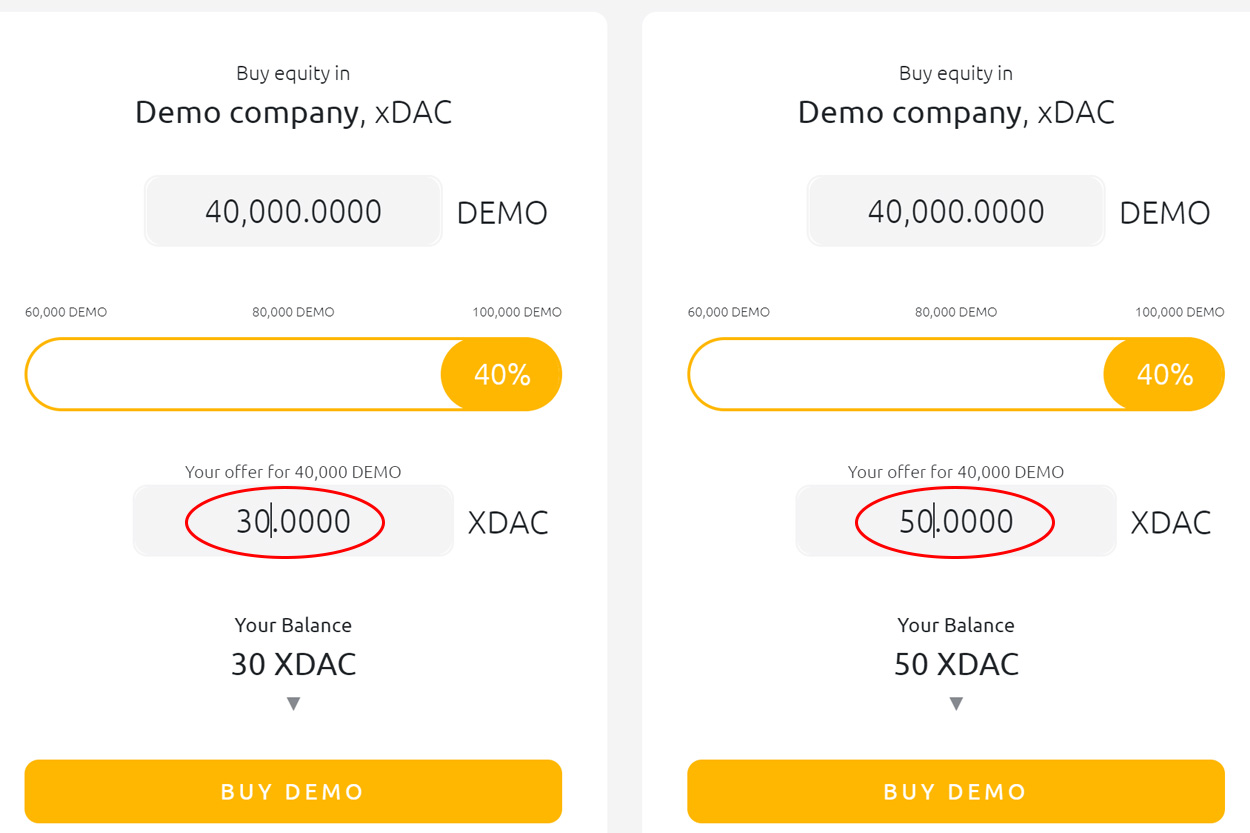 xDAC token sale other offer